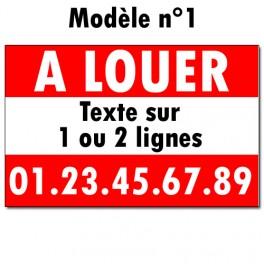 """Panneau """"A LOUER"""" - 40 x 60 cm"""