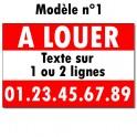 """Panneau """"A LOUER"""" - 60 x 80 cm"""